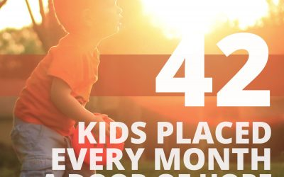 42 Kids Placed Every Month with A Door of Hope